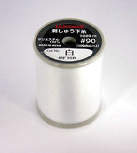 Bobbin Thread - WHITE 1000m