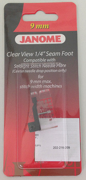 "Clear View ¼"" Seam foot – Category D"