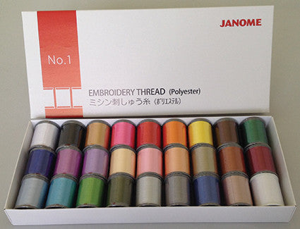 Embroidery Thread - 27 spool* (27 x 200 metre) - BOX 1