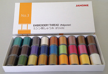 Embroidery Thread - 27 spool (27 x 200 metre) - BOX 3