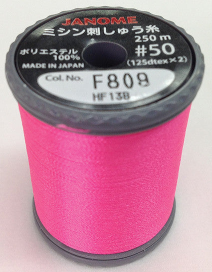 Fluorescent Embroidery Thread Pink