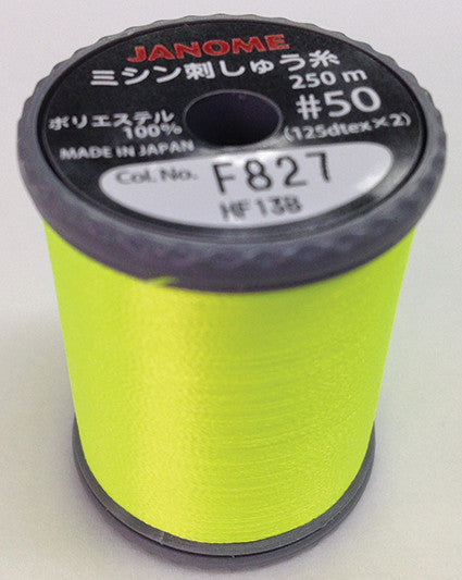 Fluorescent Embroidery Thread - Lemon