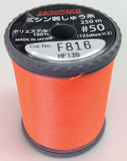 Fluorescent Embroidery Thread - Orange