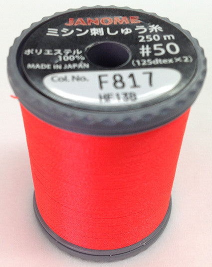 Fluorescent Embroidery Thread - Vermillion