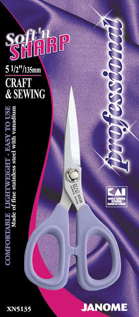 5.5 inch Soft'n Sharp Professional - Craft & Sewing Scissors