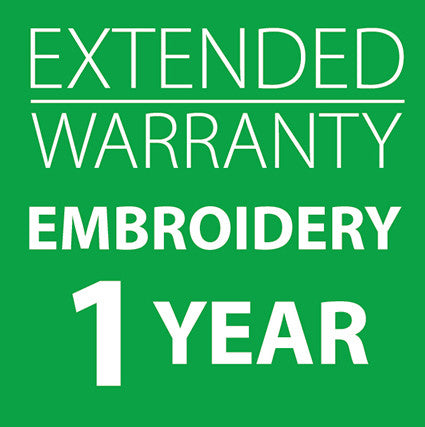 Extended Warranty Embroidery Only Machines 1 Year