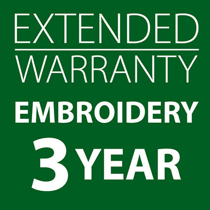 Extended Warranty Embroidery Only Machines 3 Years