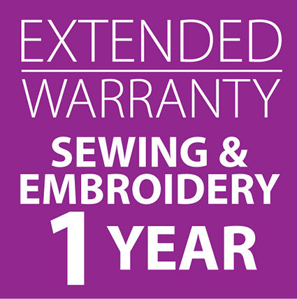Extended Warranty Combined Sewing and Embroidery Machines 1 Year