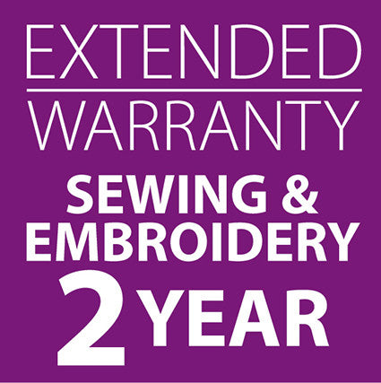 Extended Warranty Combined Sewing and Embroidery Machines 2 Years