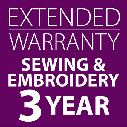 Extended Warranty Combined Sewing and Embroidery Machines 3 Years