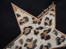 Meet Our Black Sweatshirt with Leopard Embroidered Star