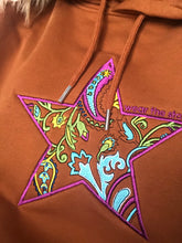 NEW Meet our Burnt Orange Hoodie with Floral Embroidered Star