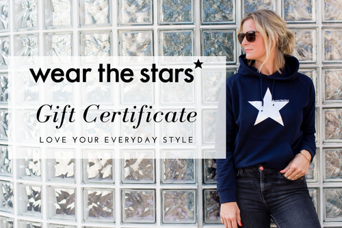 Wear the Stars gift certificate