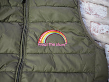 *NEW* Meet our Khaki Gilet with rainbow motif