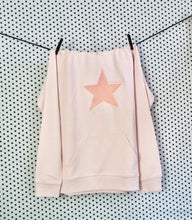 Wear the Stars women's candy pink organic cotton hoodie with ombre embroidered star