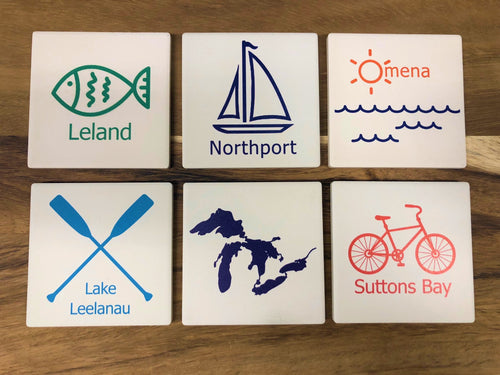 Leelanau County Town Picturesque Coasters