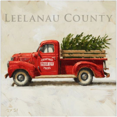 Leelanau County Red Truck Wall Art