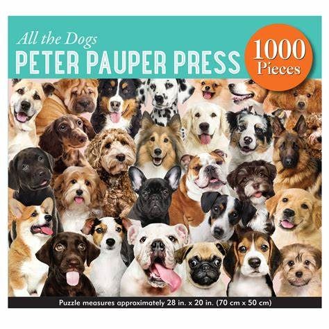 1000 Piece All the Dogs Puzzle