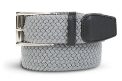 Men's Woven Belt | Easy Fit Grey Golf Webbing | Royal Albartross The Balzo Grey M-B-BWV-BZ-GY-S Thumbnail