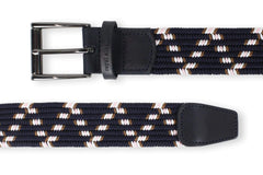 Men's Navy Woven Belt | Easy Fit - Make a Statement | Royal Albartross The Otis Navy Thumbnail
