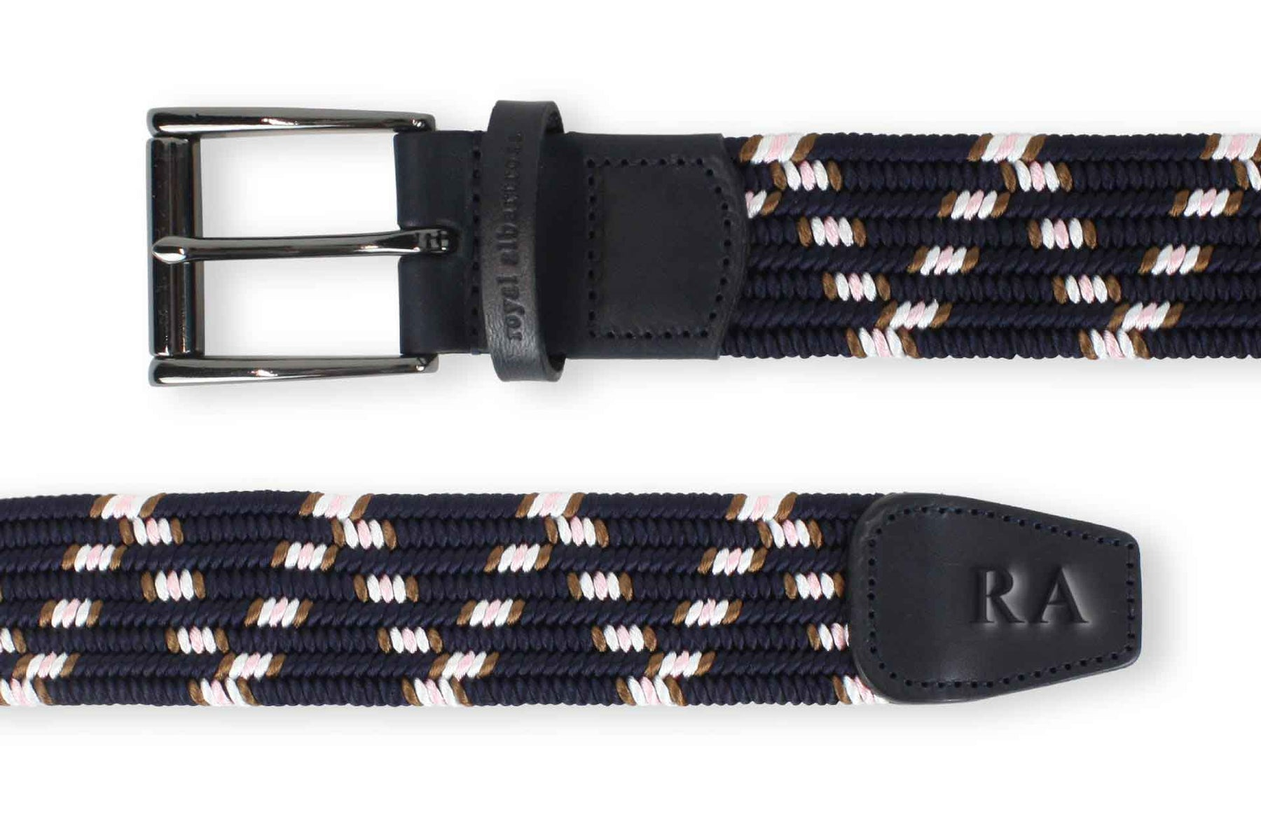 Men's Navy Woven Belt | Easy Fit - Make a Statement | Royal Albartross The Otis Navy
