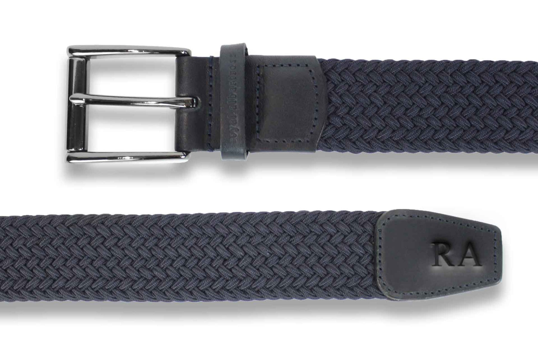 Men's Woven Belt | Easy Fit Navy Golf Webbing | Royal Albartross The Balzo Navy