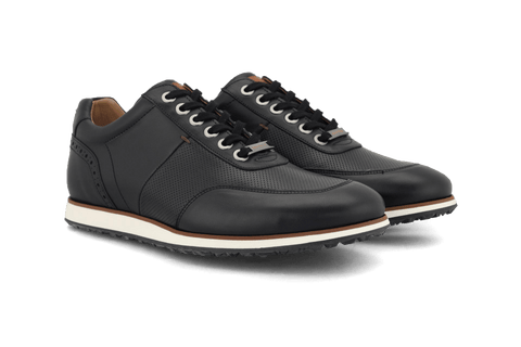 Men's Hybrid Golf Shoe | Comfort & Style - Black | Royal Albartross The Driver Black