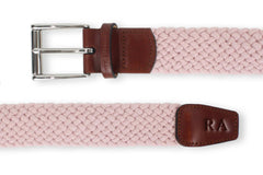 Men's Woven Golf Belt | Easy Fit & Stylish - Pink | Royal Albartross The Balzo Miami Thumbnail