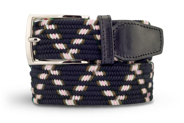 Men's Navy Woven Belt | Easy Fit - Make a Statement | Royal Albartross The Otis Navy M-B-PWV-OT-BL-S