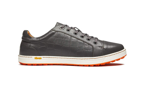 Men's Spikeless Golf Shoe | Faux Grey Croc Leather | Royal Albartross Club Croco Grey M-S-SPL-CR-GY-UK08-US09