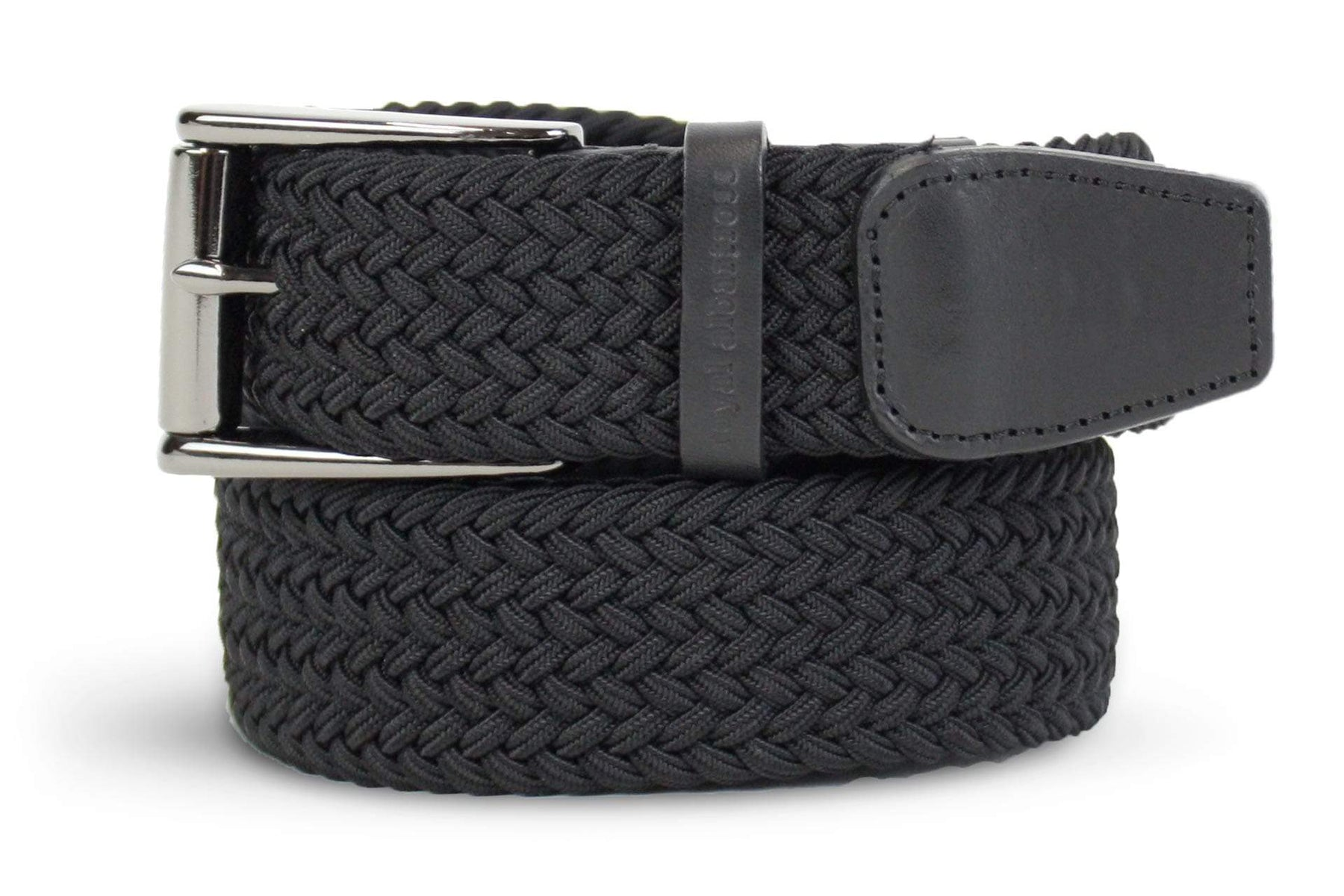 Men's Woven Belt | Easy Fit Black Golf Webbing | Royal Albartross The Balzo Black