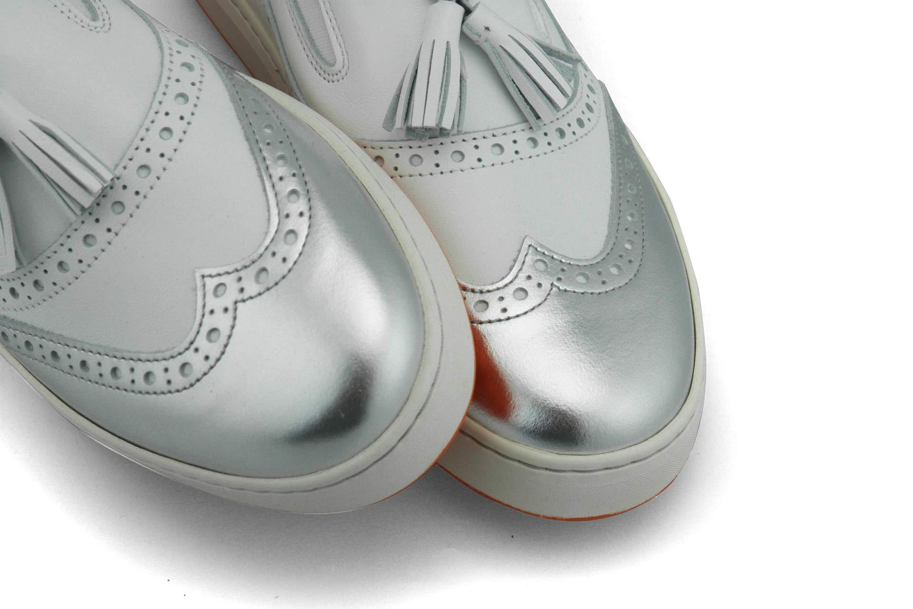 Women's Spikeless Golf Shoe | Slip On Loafer - Silver | Royal Albartross The Grace Silver