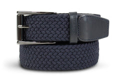 Men's Woven Belt | Easy Fit Navy Golf Webbing | Royal Albartross The Balzo Navy M-B-BWV-BZ-NY-S Thumbnail