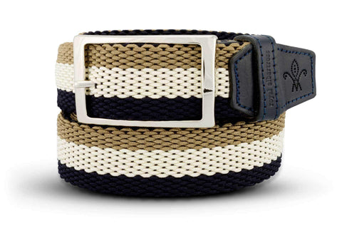 Men's Reversible Woven Belt | Green, White & Blue | Royal Albartross The Ryder Pistachio B-MWRP-M