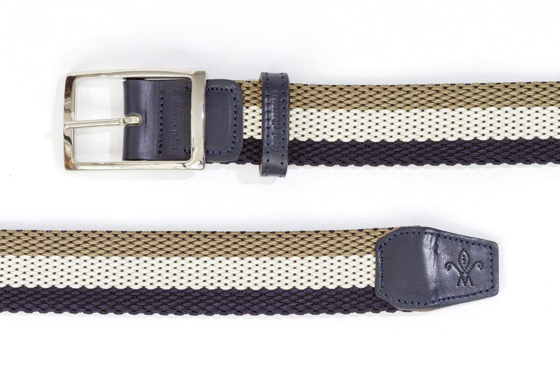 Men's Reversible Woven Belt | Green, White & Blue | Royal Albartross The Ryder Pistachio