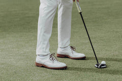 Men's Spiked Golf Shoe | Traditional Cleated White | Royal Albartross The Captain Bianco Thumbnail