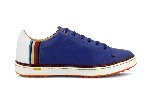 Men's Spikeless Blue Golf Shoe | Style & Comfort | Royal Albartross The Woodley Blue M-S-SPL-WD-BL-UK07-US08