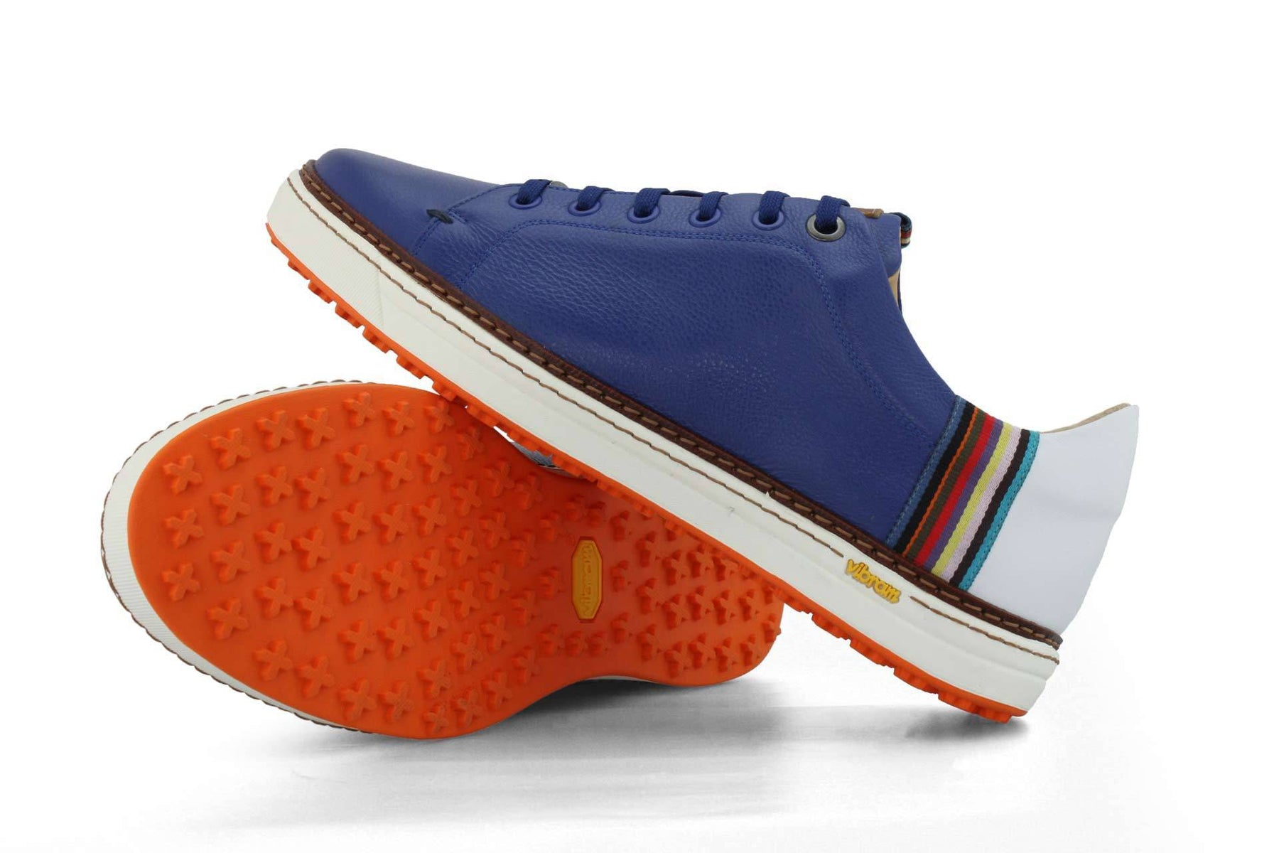 Men's Spikeless Blue Golf Shoe | Style & Comfort | Royal Albartross The Woodley Blue