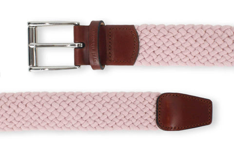 Men's Woven Golf Belt | Easy Fit & Stylish - Pink | Royal Albartross The Balzo Miami