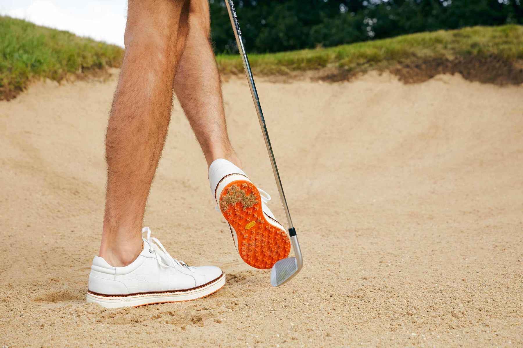 Men's Spikeless Golf Shoe | Faux White Croc Leather | Royal Albartross Club Croco White