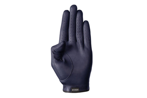 Luxury Leather Golf Glove | Cabretta Navy Leather  | Royal Albartross The Windsor Navy
