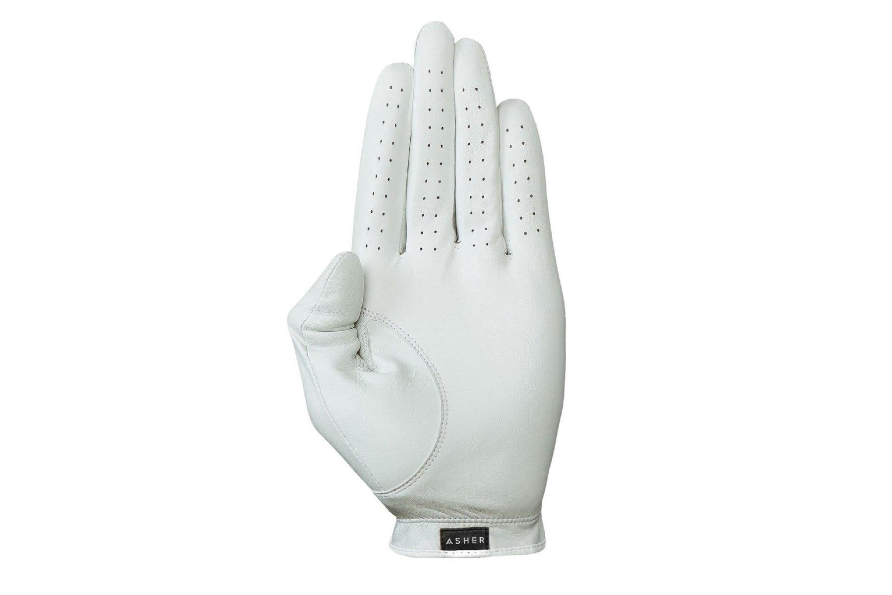 Luxury Leather Golf Glove | Cabretta White Leather  | Royal Albartross The Windsor White