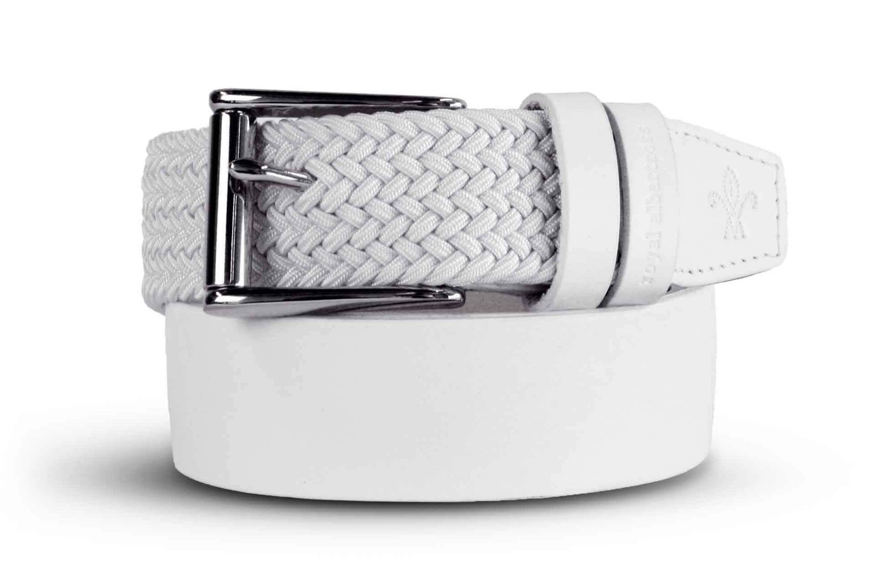Quality Golf Belts | The Bravado White | Royal Albartross The Bravado White B-MWBRW-S