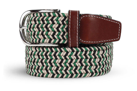 Men's Green Belt | Easy Fit - Make a Statement | Royal Albartross The Elvis Green M-B-PWV-EL-GR-S