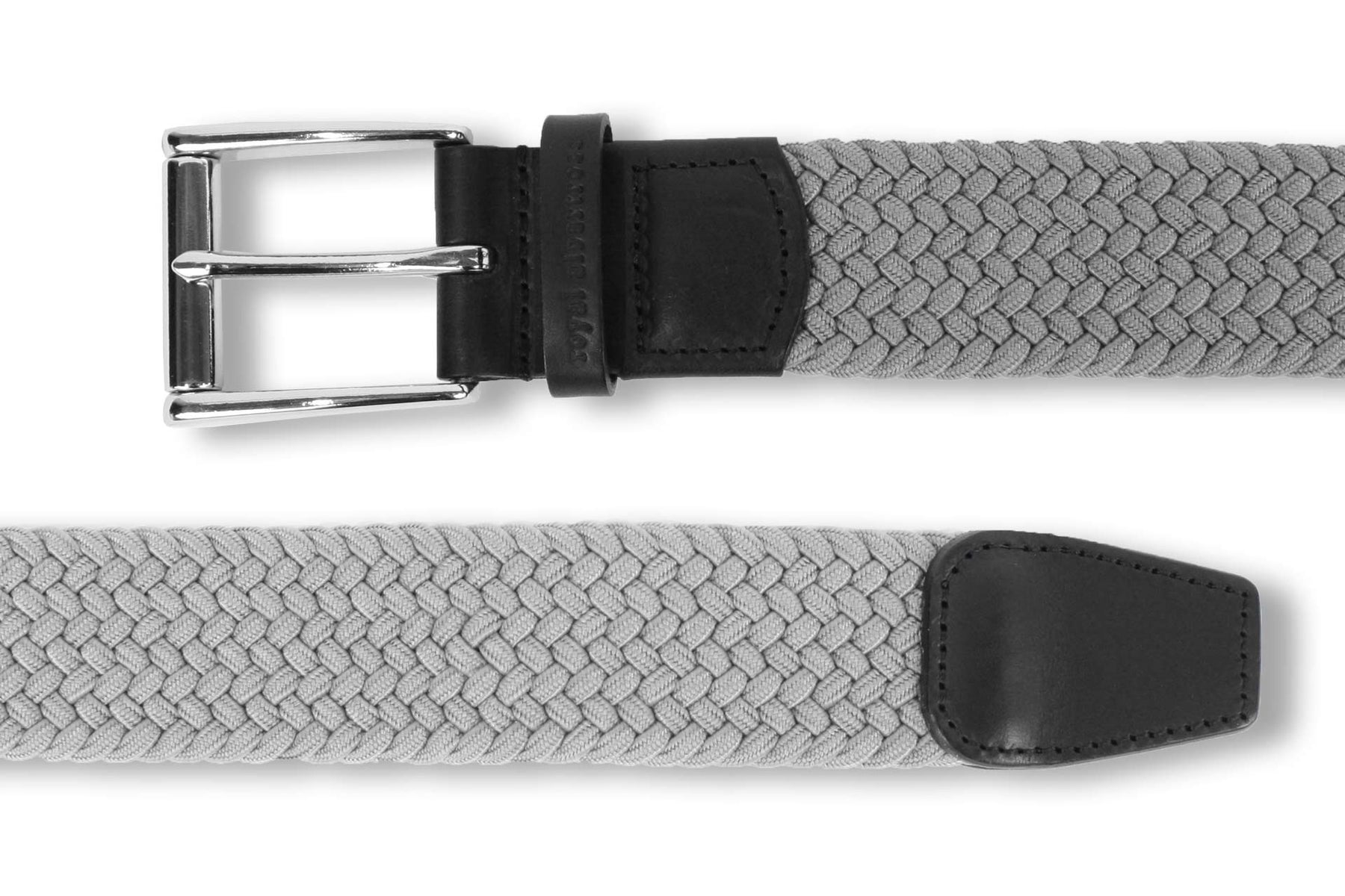 Men's Woven Belt | Easy Fit Grey Golf Webbing | Royal Albartross The Balzo Grey