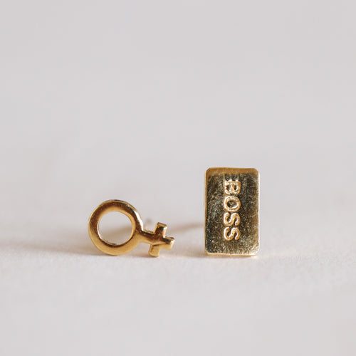 Girl Boss- Complement Studs