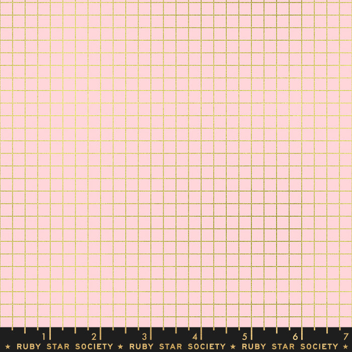 Grid in Pink Metallic