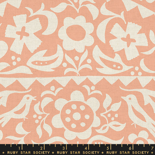 Alma - Market Floral in Peach