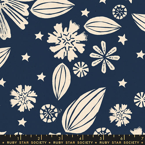 Golden Hour - Zinnia in Navy