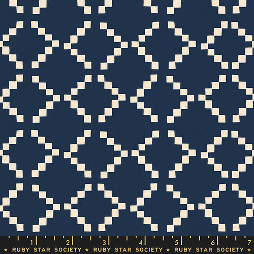 Golden Hour - Tile in Navy